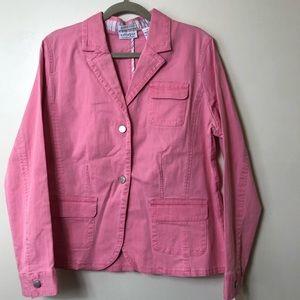 Liz Claiborne Denim Jacket. Pink. Size 16. NWT